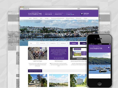 estate agents website design