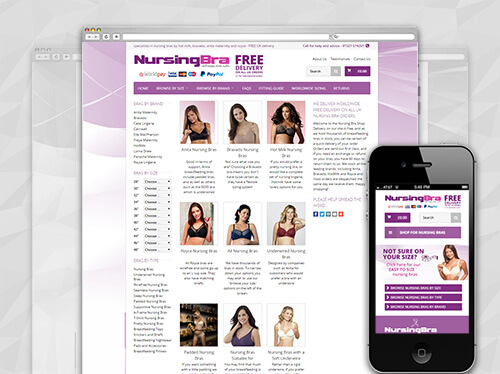 Nursing Bras Delivered Worldwide