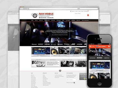 car audio ecommerce website
